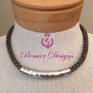 "Premier Designs Brown Braided Necklace ""Organic"""